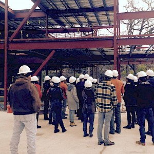 Architecture Students Tour Jobsite