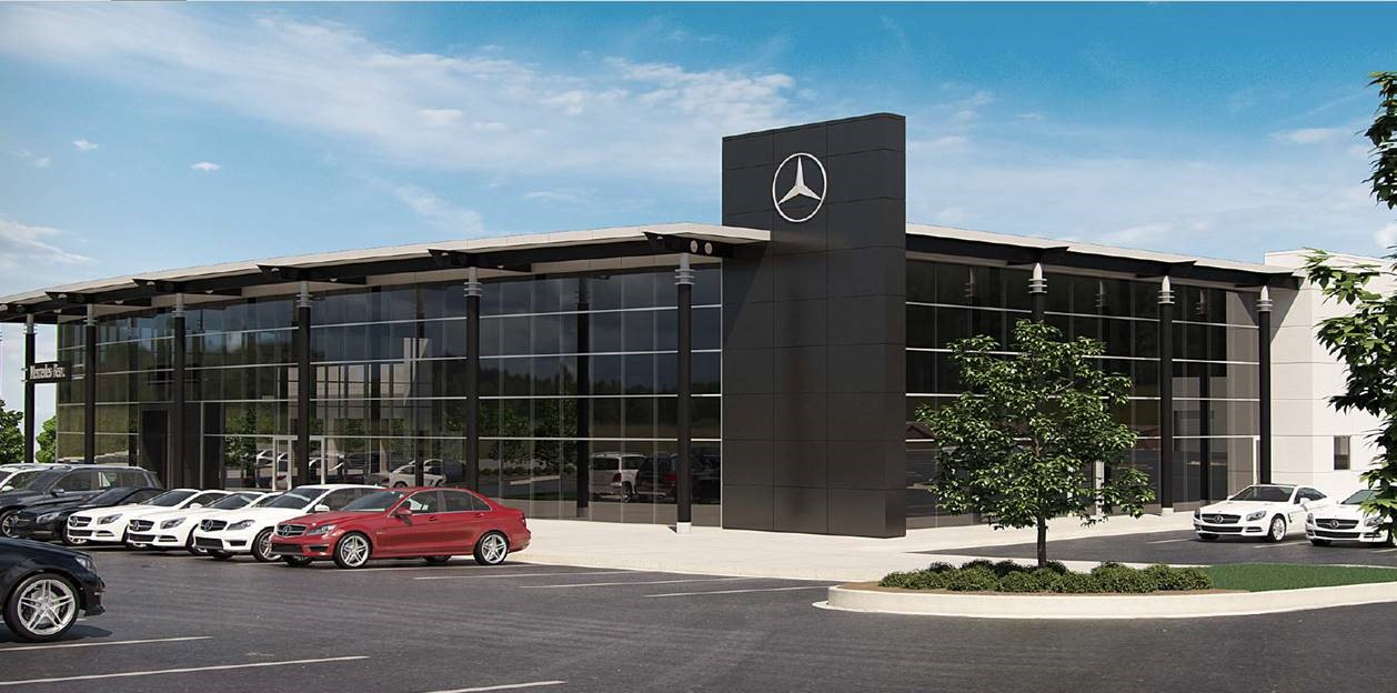 Mercedes benz of jackson white construction company for Mercedes benz dealers houston